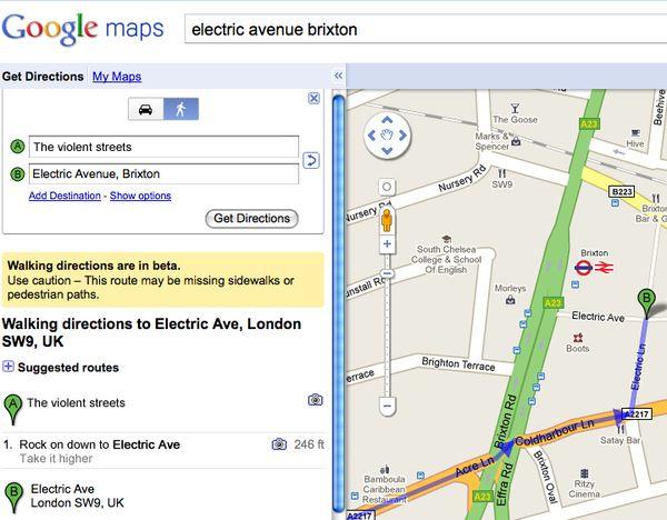 Song Lyrics As Google Maps Directions
