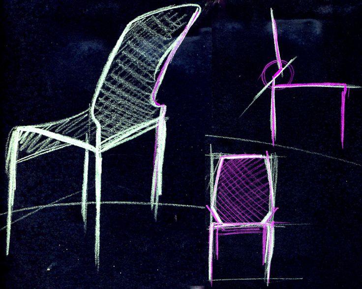 """Project for """"Tube"""" designed by Thesia Progetti for NATEVO #Lighting #LED #Lights #LEDlights #Inspiration #LEDs #livingrooms #livingroom #ideas #homedecor #interiordesign #draw #draws #chair"""