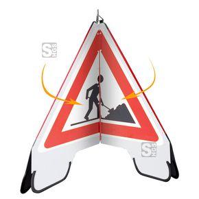 Faltsignal -Convert-  #Faltsignale #Unfallsicherungen #Hinweisschilder #Warnhinweise #Dreibeingestell #Warnschilder #Faltdreieck #Warnpyramide #Warnpyramiden