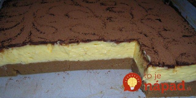 Hľadáte skvelý dezert na nedeľné popoludnie? Doprajte si fantastický dezert z krupice a vanilkového krému a čokoládovej polevy.