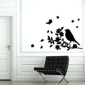 Oiseau de Printemps à coller sur les murs