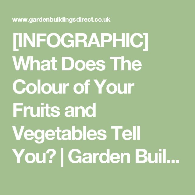 [INFOGRAPHIC] What Does The Colour of Your Fruits and Vegetables Tell You?   Garden Buildings Direct Blog