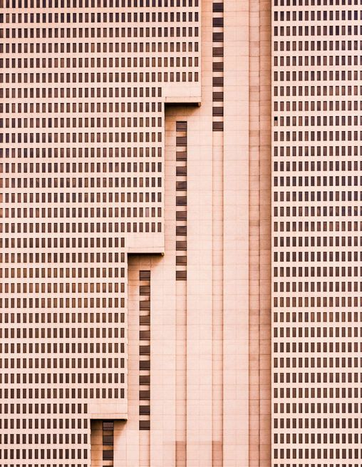 """The tallest building in Fort Worth, Texas, this simple brutalist architectural…"
