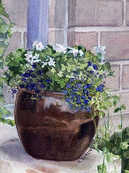 Potted Flowers by Katherine  Berlin