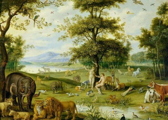 Adam And Eve In The Garden Of Eden By Jan Brueghel The