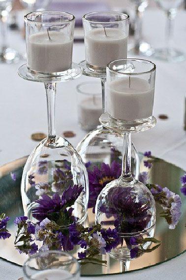 centre de table mariage bougie - Recherche Google