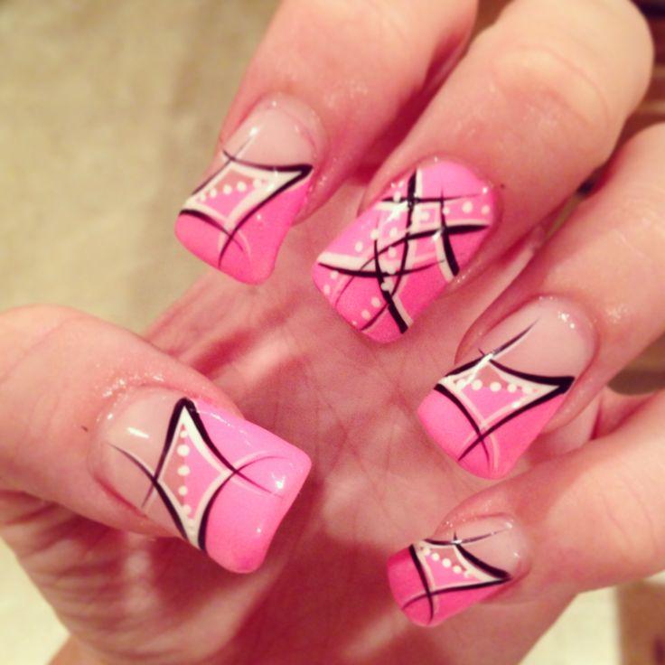 Pink nail art #nail #nailart
