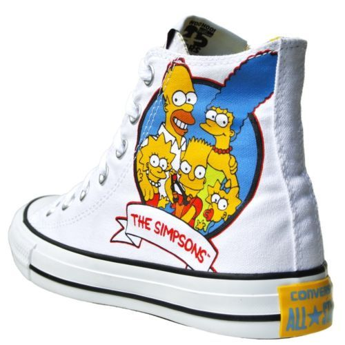 Converse All Star Chucks UE 42 UK 85 Bart Homer Simpsons Black Limited Edition