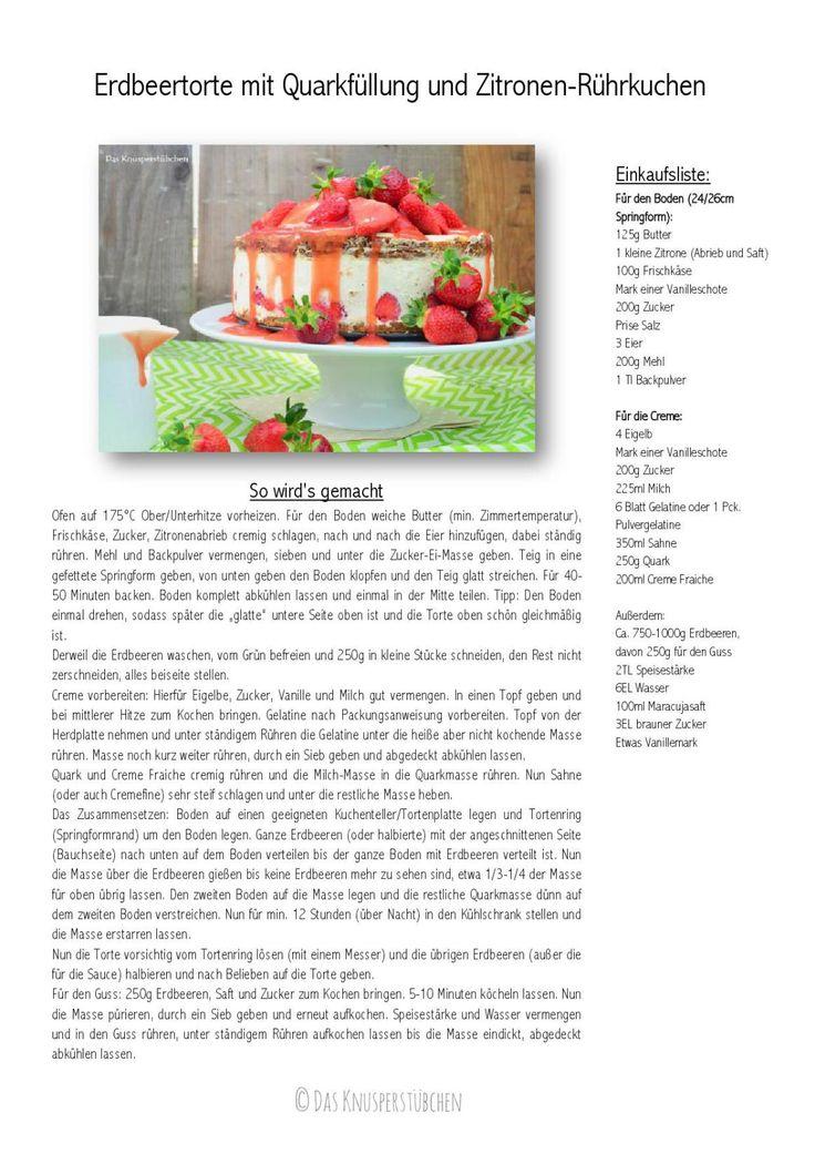 Erdbeertorte mit Quarkfüllung & Vanille Zitronen Rührkuchen | Das Knusperstübchen