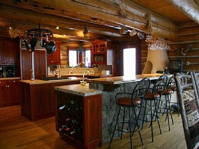 1000 images about log cabin kitchen on pinterest for Log cabin kitchen countertops