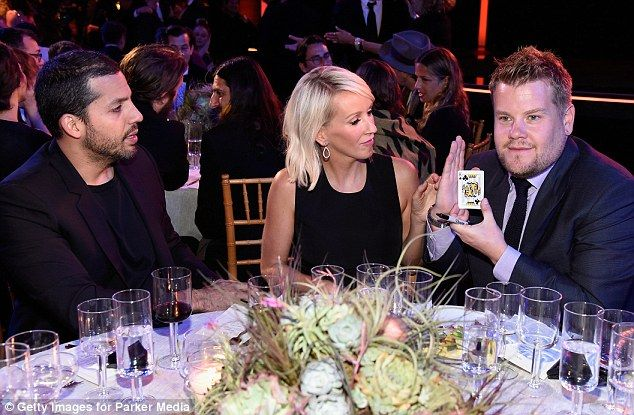 Up to his usual tricks! Magician David Blaine entertained James Corden and his wife Julia Carey