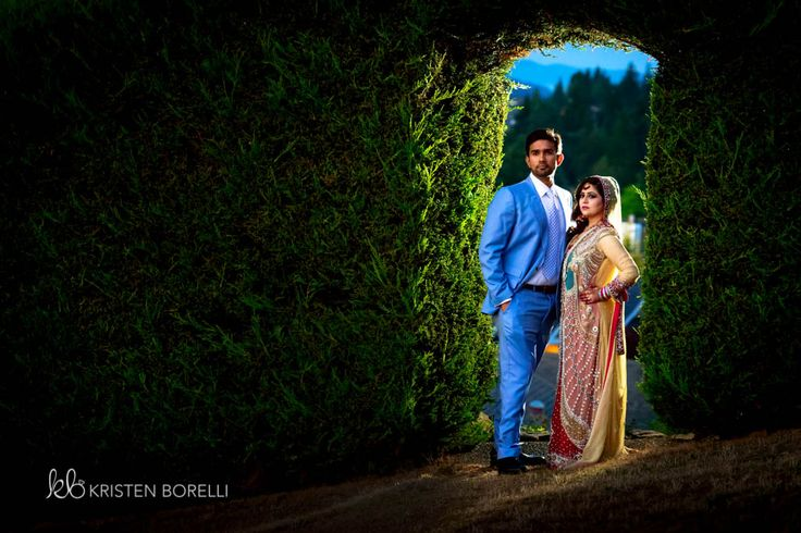 Pakistani Wedding Photography. Portrait of Bride and groom (Kristen Borelli Photography, Pakistani Wedding, Vancouver Island Wedding Photography, Victoria Wedding Photography, Nanaimo Wedding Photography, Prince George Wedding Photography)