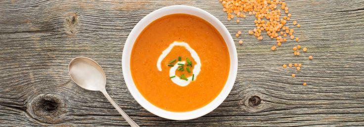 Soupe aux poivrons et aux lentilles rouges