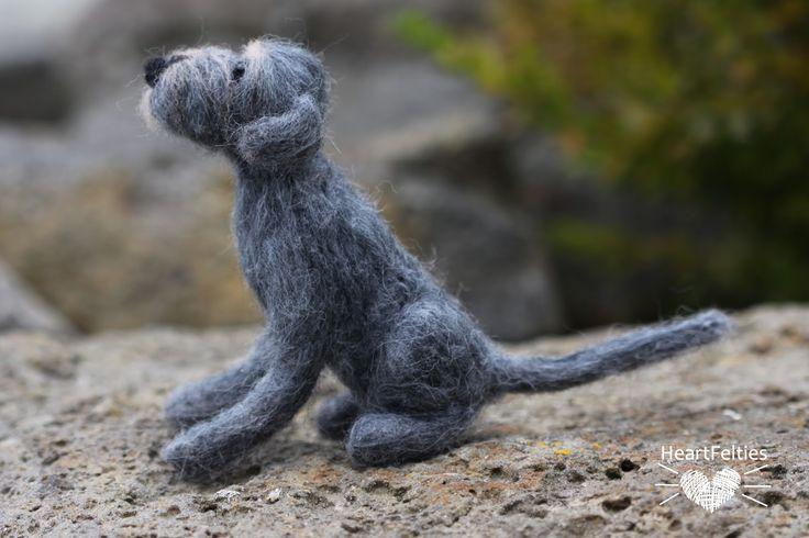 HeartFelties: The Irish Wolfhound needle felted dog
