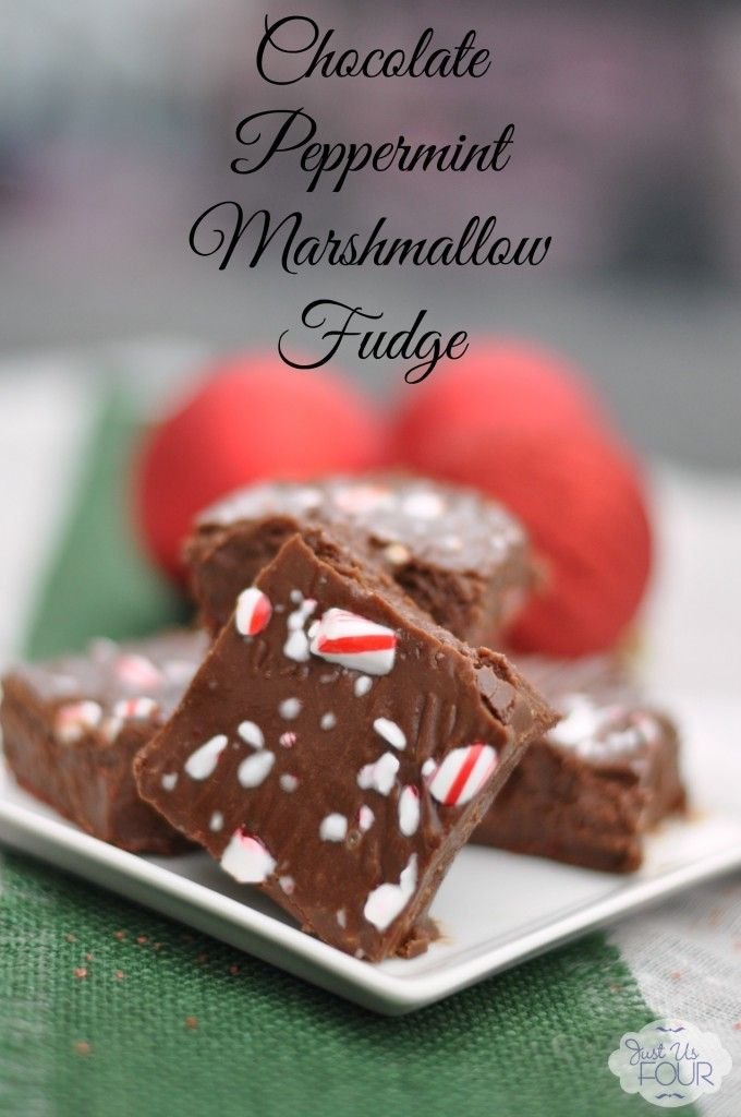 The easiest peppermint marshmallow fudge ever! So perfect for the holidays and beyond!