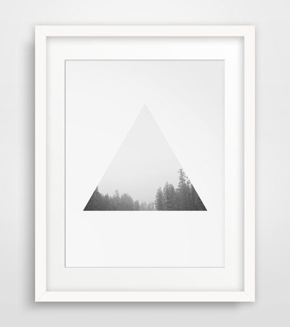 Tree Print Forest Print Triangle Print by MelindaWoodDesigns #Nordicart #treeprints