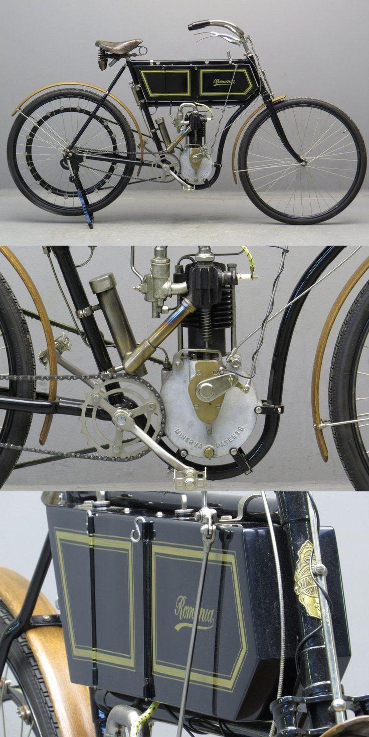 1903 1¾hp Romania Veteran #motorcycle from Yesterdays. Man do I love pre-war bikes!