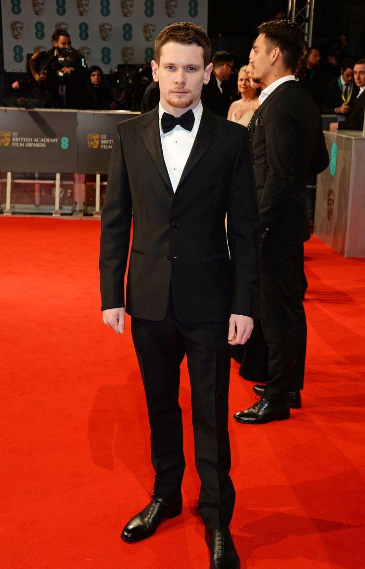 2015 #BAFTA rising star winner and #Unbroken star #JackOConnell in Prada.