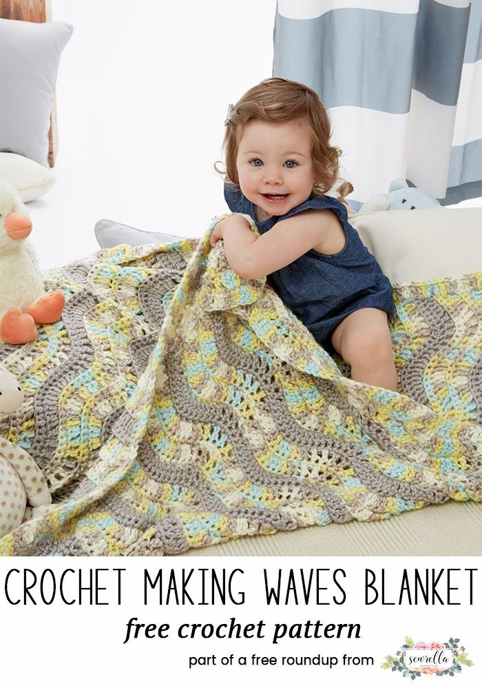 Crochet this making waves ripple blanket for kids from my baby playtime essentials free pattern roundup!