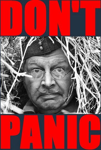 "Corporal Jones ""Don't Panic!"" in Dad's Army"