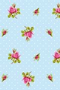 PiP Roses and Dots Blue wallpaper | PiP Studio ©