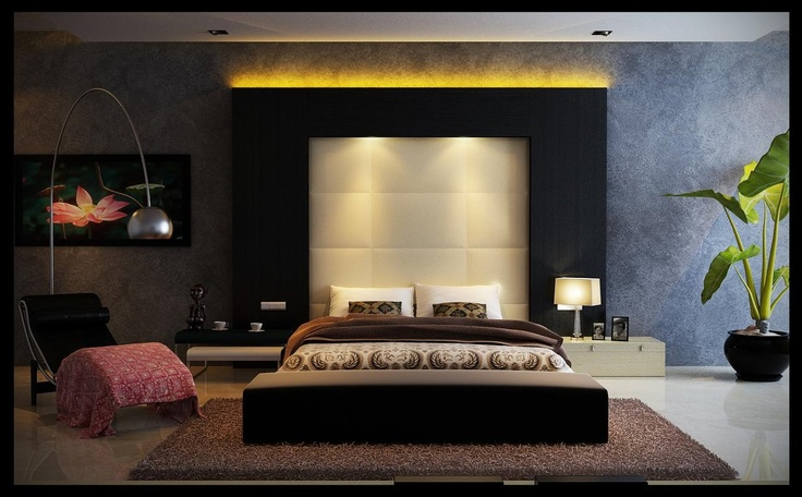 I dig large headboards w/ lots o texture