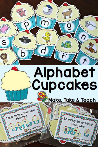 Alphabet Cupcakes! Fun hands-on activity for learning the alphabet.