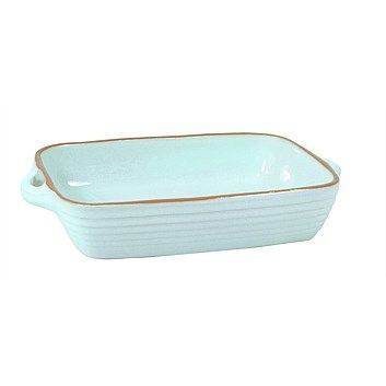 Jamie Oliver - Kitchenware and Dinnerware - Living & Giving - Jamie Oliver Terracotta Baking Dish Blue Medium 26.5x17x5cm