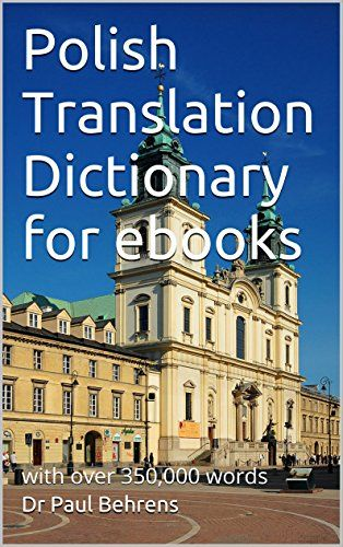 Polish Translation Dictionary for ebooks: with over 350,000 words:   For eink kindle readers only. Polish to English dictionary for the translation of words in Polish ebooks on the kindle. Hold your finger on a Polish word and it will be translated to the English version. This really speeds up reading and learning another language. One word per translation, these are single word pairs. Set your kindle dictionary as this Polish translation dictionary. br /