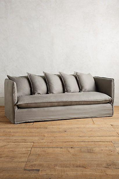 Belgian Linen Carlier Slipcover Sofa Anthropologie
