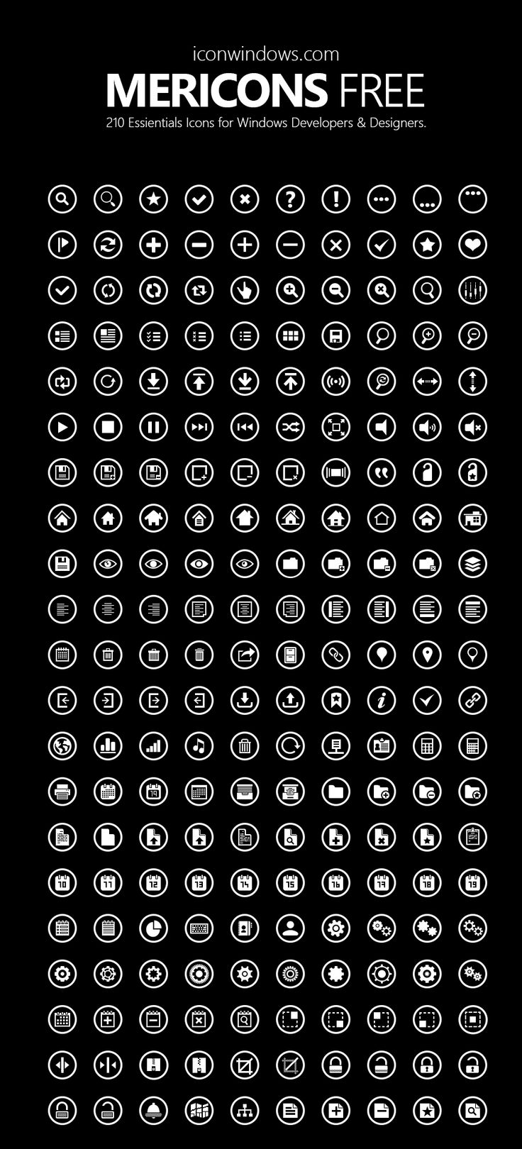 Metricons Free Icon Pack