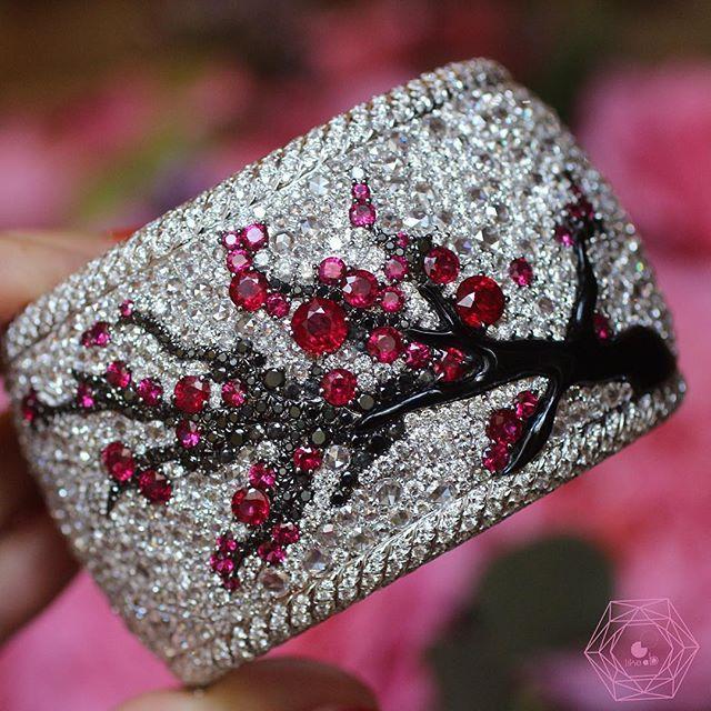 Anna Hu Tree of Life on a Diamond bracelet