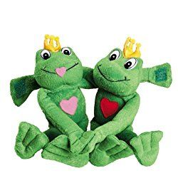 2 Plush Long-Armed Valentine Frogs