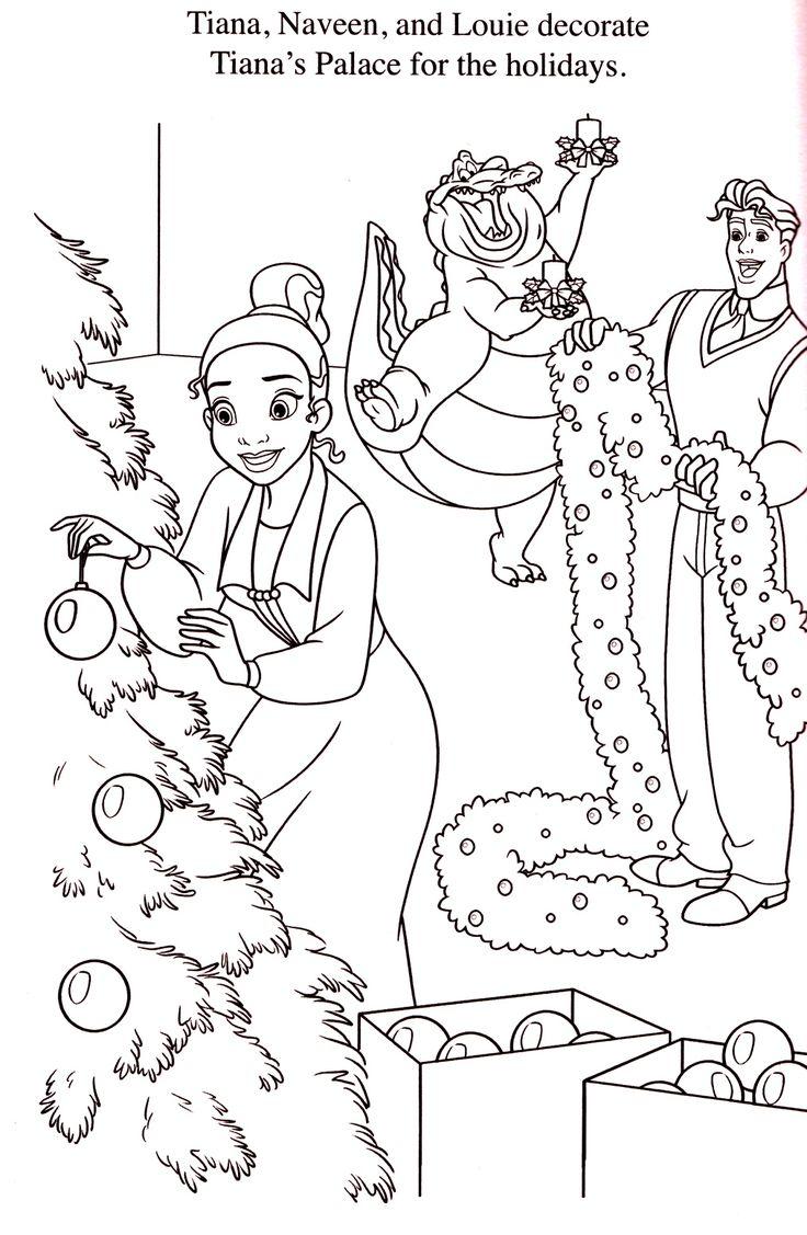 102 best coloriages la princesse et la grenouille images on pinterest the princess colouring - Coloriag princesse ...
