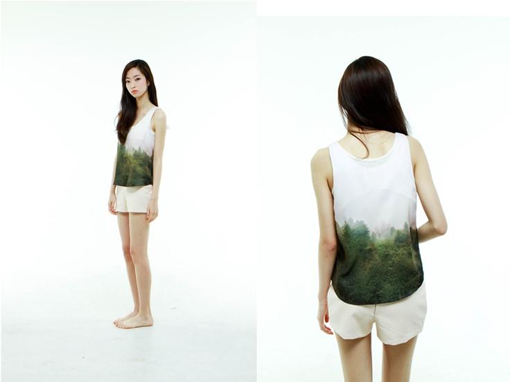 al,thing - Digital print sleeveless top