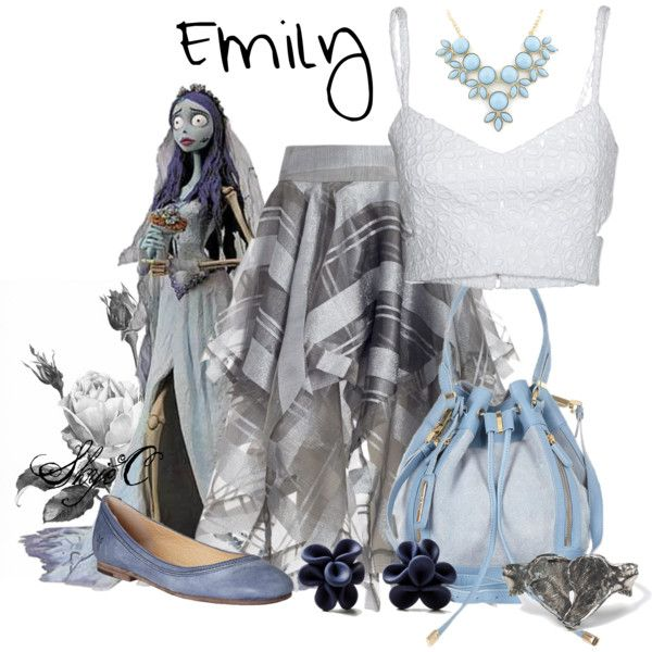 The inspiration: Emily of Tim Burton's Corpse Bride. (I know she is not licensed as a Disney character, but this is too awesome not to share)