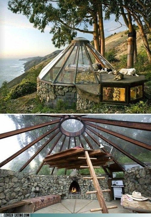 Hidden Luxury - This is partially underground, but still has copious amounts of light from the glass ceiling.