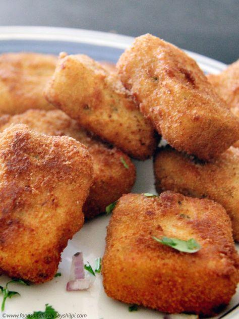 Paneer Suji nuggets | Vegetable Nuggets