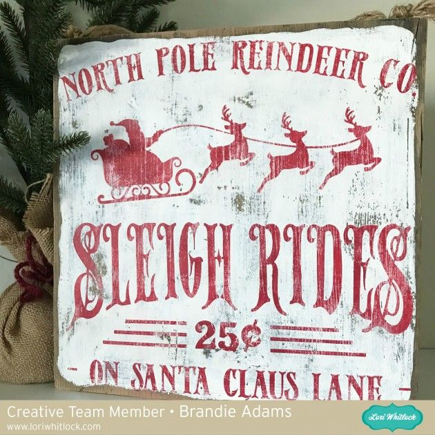Hi there! Brandie here with a tutorial on how I made this Christmas sign using the Sleigh Rides on Santa Claus Lane file. You can find it here in Loris shop and here in the Silhouette store....
