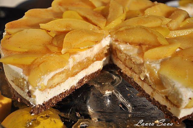 Cheesecake cu gutui, fara coacere   Retete culinare cu Laura Sava
