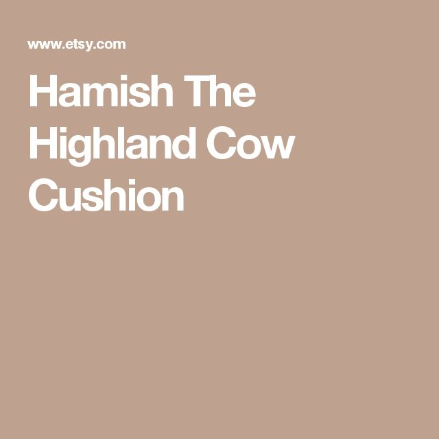Hamish The Highland Cow Cushion