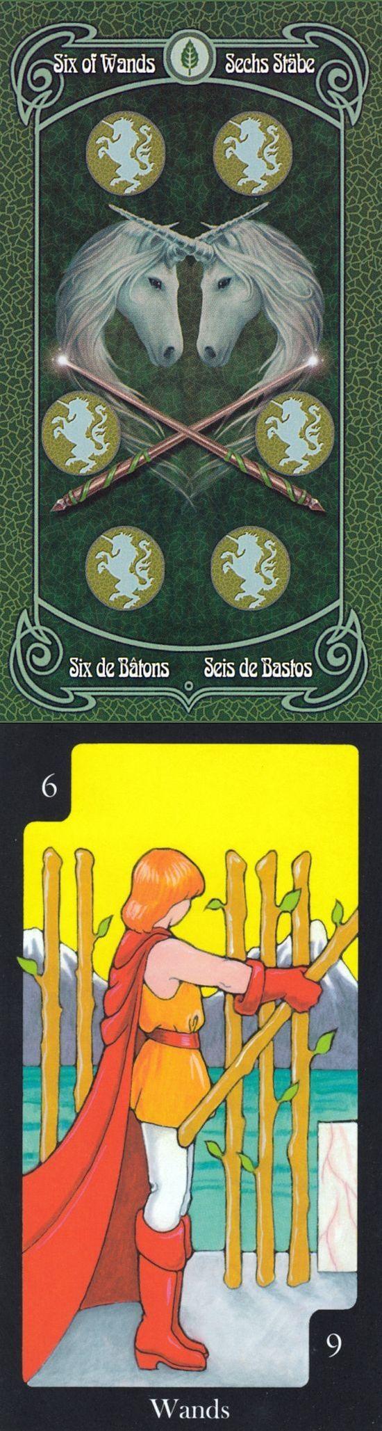 Six of Wands: success and self-doubt (reverse). Ann Stokes Tarot deck and Hallmark Tarot deck: tarot gratuit online, free lotus tarot and one card reading. #happyhalloween #justice #altar