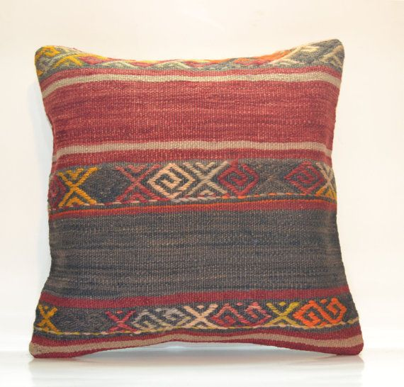 Hey, I found this really awesome Etsy listing at https://www.etsy.com/listing/178623168/red-vintage-hand-woven-boho-pillow-16x16