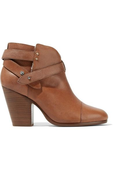 RAG & BONE Harrow shearling-lined leather ankle boots. #ragbone #shoes #boots