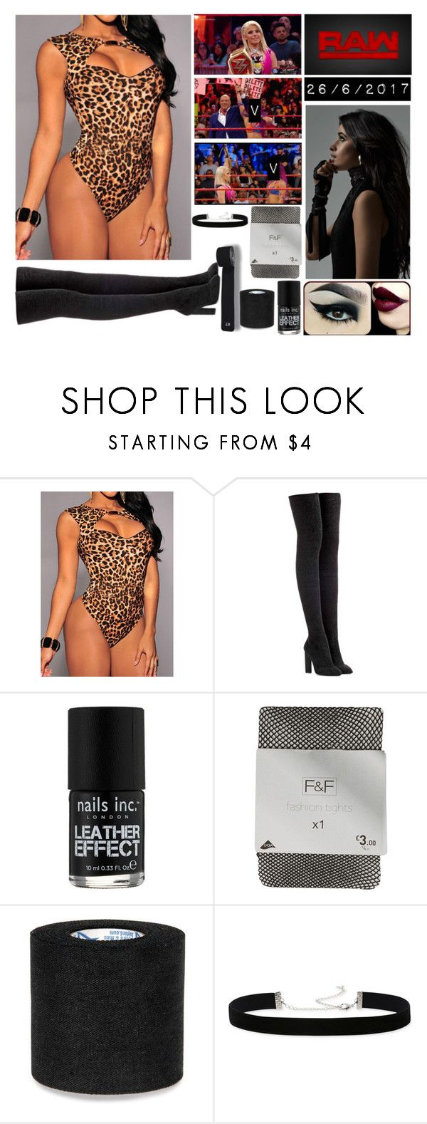 """""""Bez tytułu #1240"""" by kereneza ❤ liked on Polyvore featuring WWE, adidas Originals, Nails Inc. and 2028"""