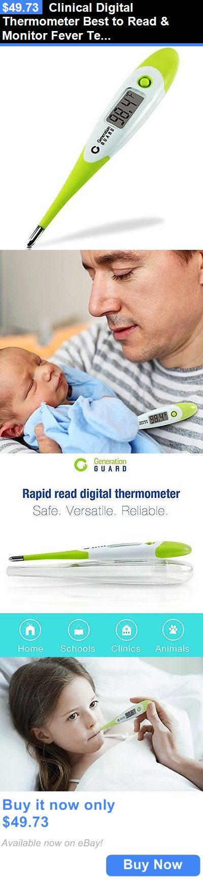 Thermometers: Clinical Digital Thermometer Best To Read And Monitor Fever Temperature In 15 New BUY IT NOW ONLY: $49.73