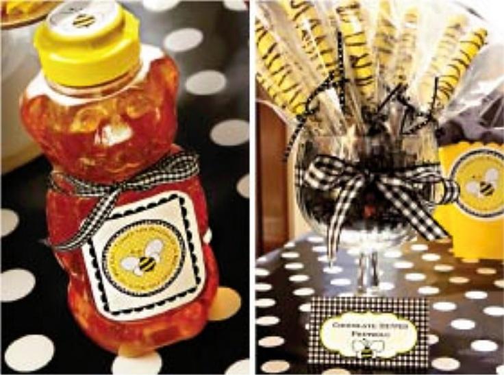 """Thanks for being a HONEY"" favors (honey jar or pretzels)"