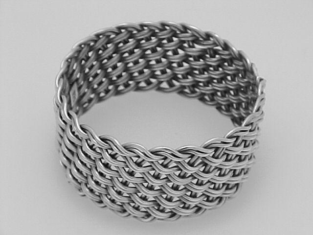 Basket Weave Silver Napkin Ring $126.50