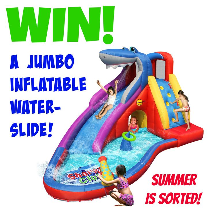 { Awesome new give-away!! }  This super-dooper JUMBO inflatable Shark water-slide is up for grabs! HEAPS of fun for the kids this summer!!!!  Click here to enter!  >>>> http://bit.ly/jumbo-shark-slide
