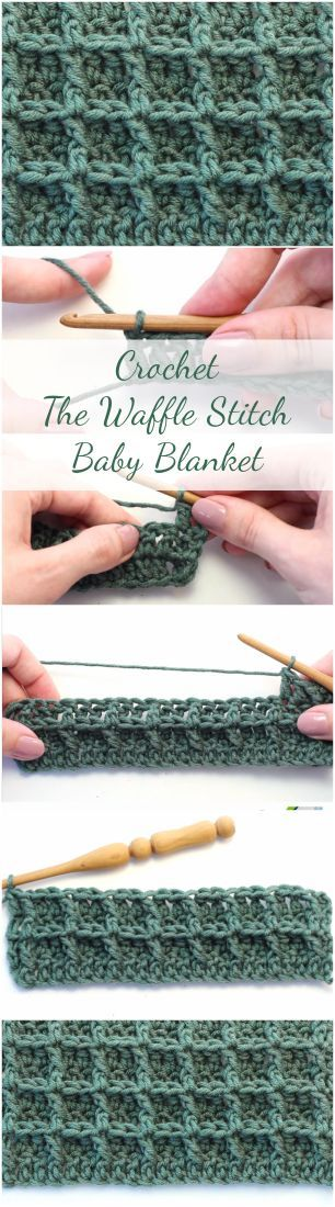 Amazing step by step video tutorial for those who want to learn how to crochet the waffle stitch and crochet a DIY baby blanket during the process!